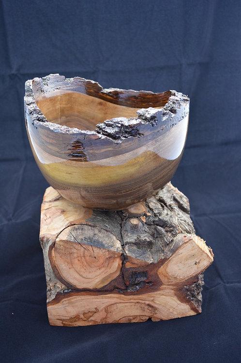 Handmade Black Walnut Natural Edge Bowl