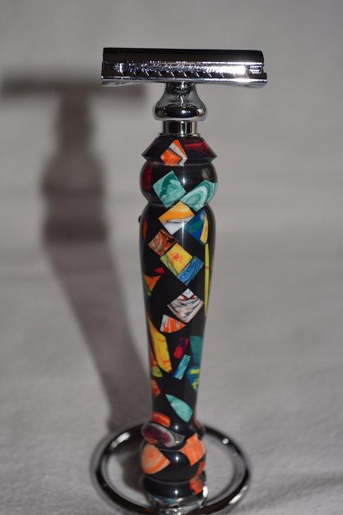 """Handmade Designer Razor """"Auld Lang Syne"""" Dbl Edge"""