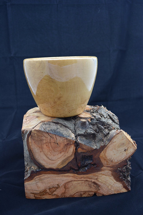 Handmade Black Ash Burl Bowl