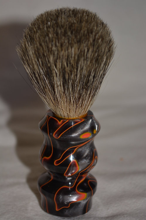 Handmade Lava Flow Badger Hair Shaving Brush