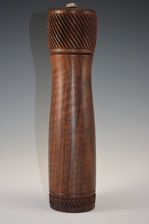 Amazing Fiddleback Walnut Pepper / Salt Mill