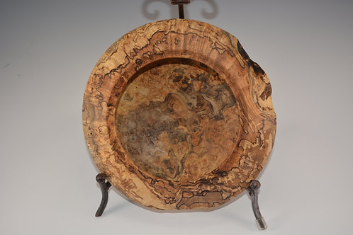 One of a Kind Spalted Red Maple Bowl