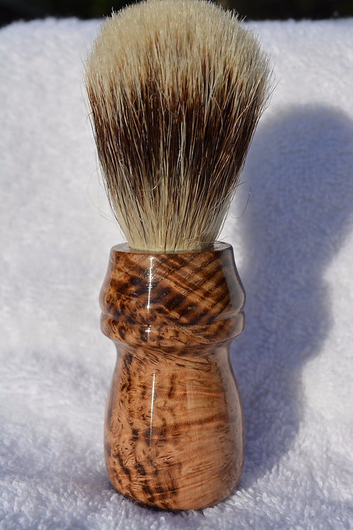 Handmade Black Ash Burl Shaving Brush
