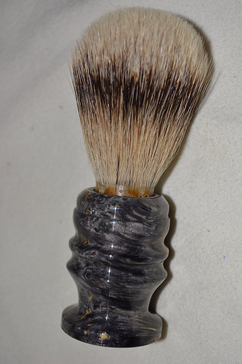 Beautiful Box Elder Burl Badger Hair Shaving Brush