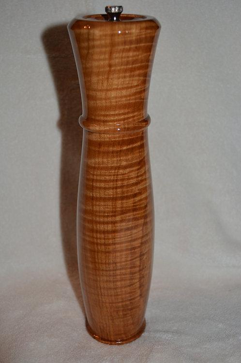 Handmade Fiddleback Maple Salt/ Pepper/ Spice Mill