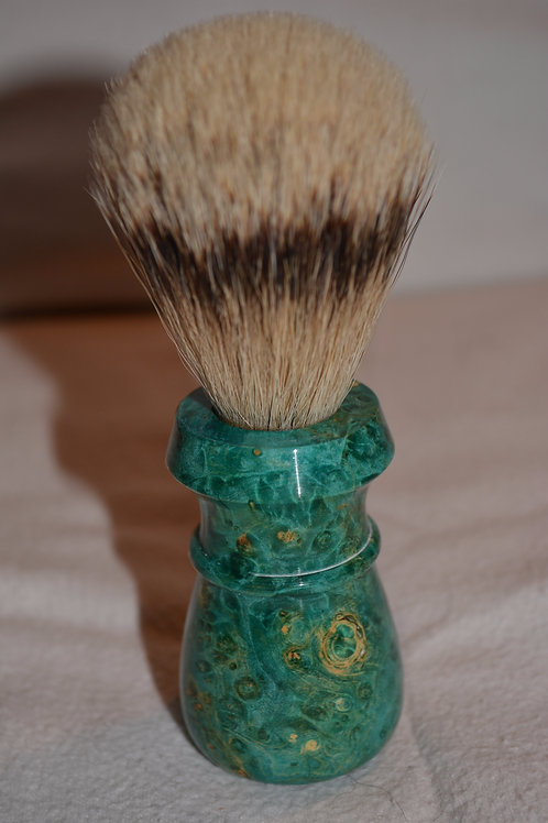 Handmade Box Elder Badger Hair Shaving Brush