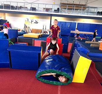 October 2020 Holiday Program boys Fort building
