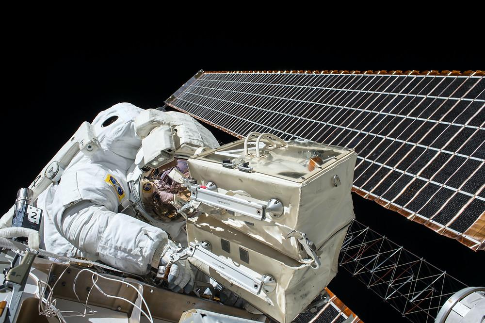 Solar panel on ISS