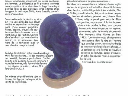 """""""Toutes les couleurs du bleu"""" - Conférence - La Ricamarie"""