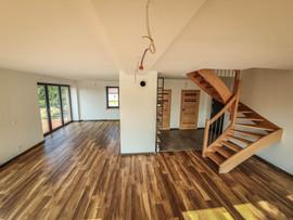 dom stodoła - schody drewniane
