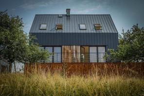 dom stodoła - elewacja północna