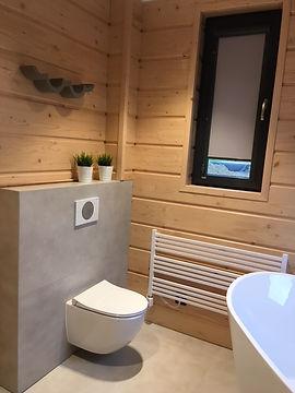 domy z bali - łazienka