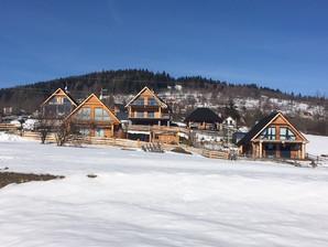 domy widok zimowy