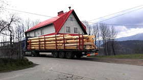 domy z bali - transport bali na budowę