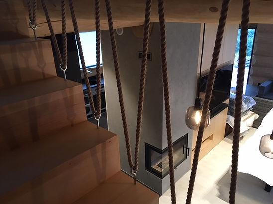 domy z bali - widok na salon