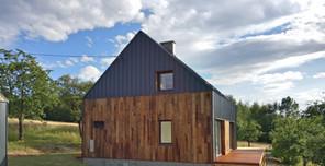 dom stodoła - elewacja wschodnia