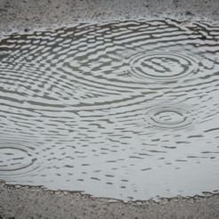 Puddle on asphalt surface
