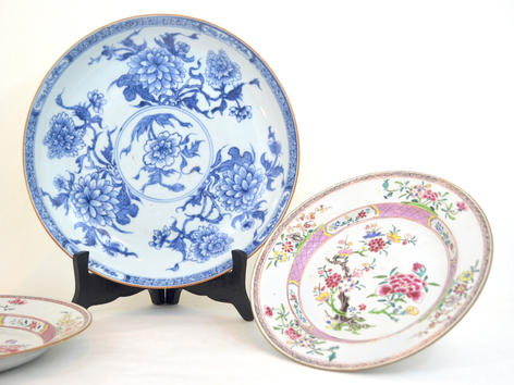 A selection of 18th century East Indies porcelain wares