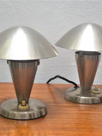 Pair of modernist lamps.JPG