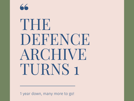 Thank you from The Defence Archive