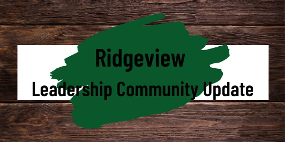 Leadership Community Update