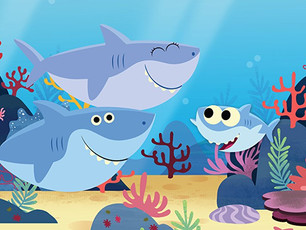 Revised Baby shark song (+ concepts & language teaching tips)