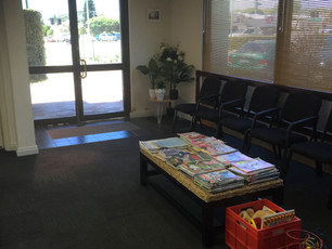 Our new waiting room!