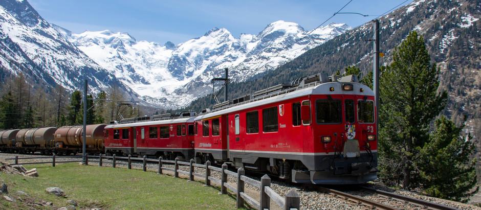 Kurze Züge am Berninapass