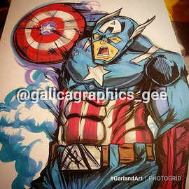 First up #CaptainAmerica #GarlandArt gon