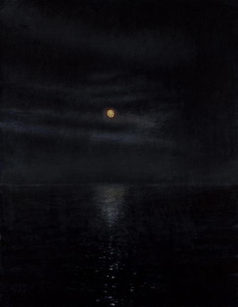 David Niec 95% Moon Rise over Lake Michigan