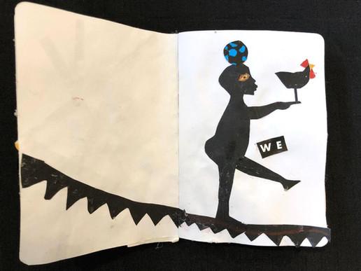"""Della Wells, """"We,"""" sketchbook pages"""