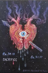 Norbert Kox Sacrifice Triple XXX, 2014 Oil on panel 8 x 5.5 in.