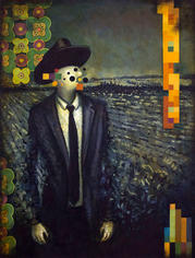 Night Singer #1 2019 Oil on canvas 18 x 24 (Collection of Museum of Wisconsin Art)