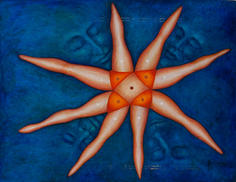 Untitled (starfish legs) 1974 Oil on masonite 29 x 38 inches