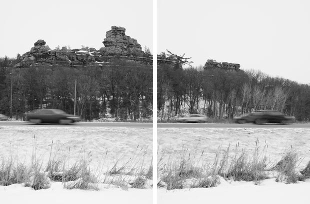 Mark Brautigam Castle Rock Bluff, 2017 Inkjet print Variable dimensions: 20 x 30 (2 15 x 30 prints) 40 x 60 (2 30 x 40 prints)