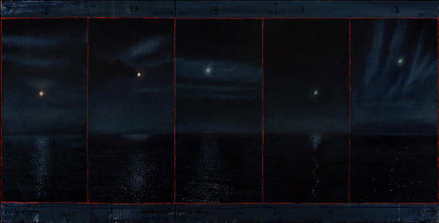 David Niec Panel 3, June Moon Cycle over Lake Michigan.