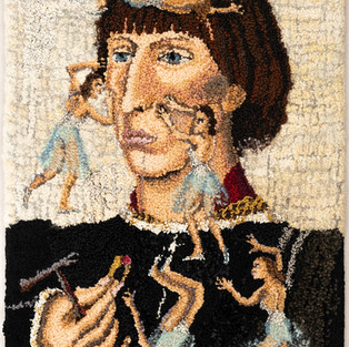Shari Urquhart Francesco D'Este - Who is He?,1996 Stretched Rug: Persian wool, mohair, metallic acrylic & silk fibers 52 x 36 inches