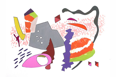 Pat Hidson Escape, 2020 Gouache and ink on paper 10 x 14 in.  $300
