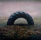 Rafael Francisco Salas, Black Rainbow, 2020. Oil on canvas, 16 x 20 inches