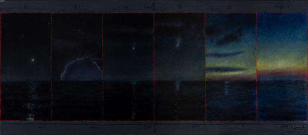 David Niec Panel 1, June Moon Cycle over Lake Michigan