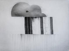 Christopher T Wood 200323 graphite powder on paper 9 x 12