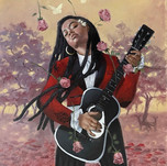 Jerry Jordan Rhapsody in Rose, 2021  Oil on canvas 40 x 30 inches