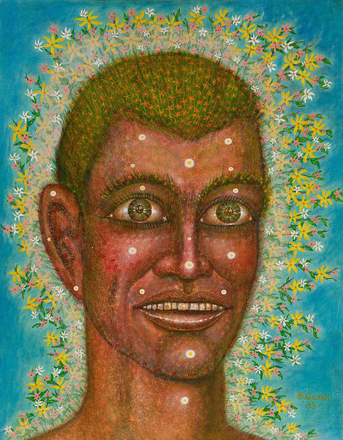 Flowering Youth 1983 Oil on masonite 28 x 23 inches