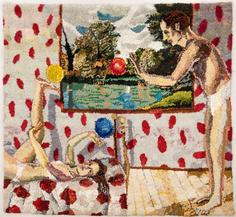 Shari Urquhart Bouncing Balls, 1979 Wool, mohair, metallic fiber, acrylic yarn & silk fibers 72 x 80 inches