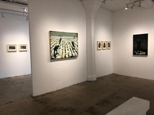 Installation view, 2019 For God and Country Portrait Society Gallery