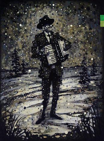 Musician in Winter (accordion)