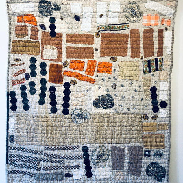 Amanda Nadig Surprise Cutoffs, 2020 Hand pieced quilt