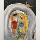 Steve Burnham, St. Pot, 2020. Acrylic on canvas, 20 x 16 inches