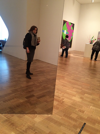 "Larry Bell's ""Untitled"" (1972), made of glazed glass, offers the perfect selfie opportunity."