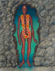 Come Out Stance 1990 Oil on masonite 28 x 22 inches